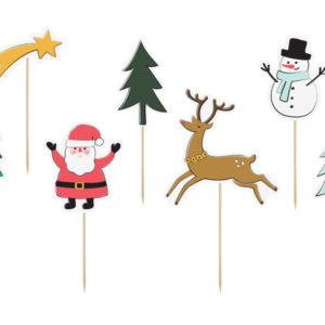 Caketopper Weihnachten · 7 Stück