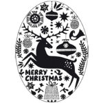Stempel · Merry Christmas · oval