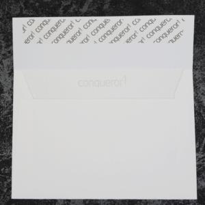 hochwertiger Conqueror Umschlag C6 weiß Leinenstruktur