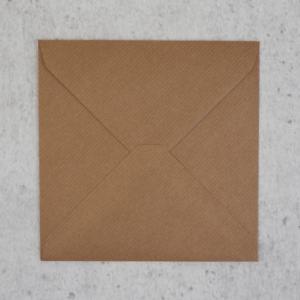 Umschlag quadratisch 155x155mm Naturpapier Braun