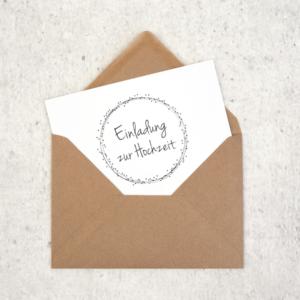 Umschlag C6 Naturpapier Braun