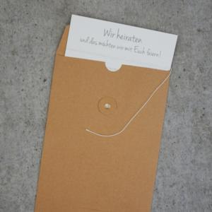 Umschlag C6 Kraftpapier Braun mit Kordelverschluss