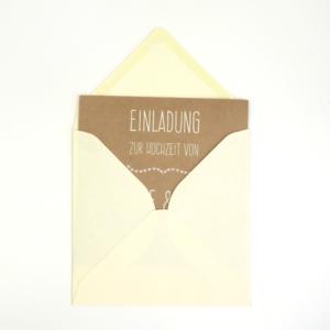 Umschlag quadratisch Creme 155x155mm