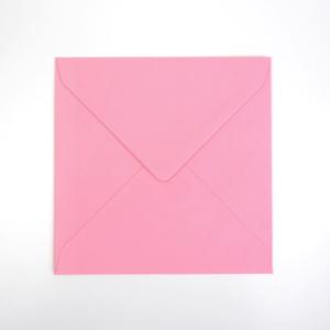 Umschlag quadratisch Rosa 155x155mm