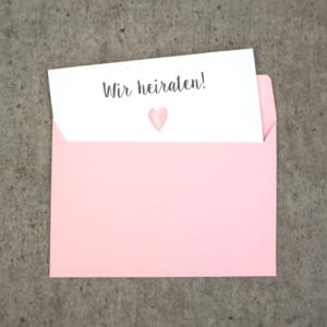Umschlag C6 Pastellrosa