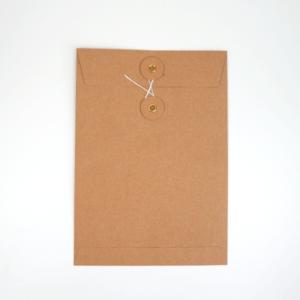 Umschlag C5 Kraftpapier Braun mit Kordelverschluss