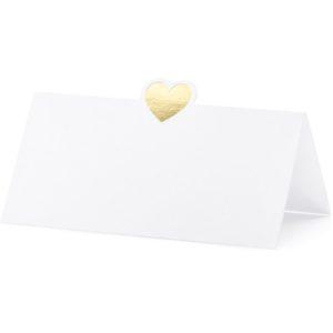 """Platzkarten · Namenskarten """"Golden Heart"""" · 10 Stück"""