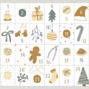 "Adventskalender Karten ""Cozy Winter"""