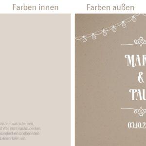 """Hochzeitseinladung """"Paperprint"""" quadratisch"""