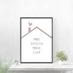 Individualisiertes Poster Familie - Nude