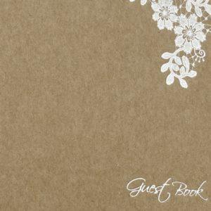 "Gästebuch Kraftkarton ""Flower Lace"""