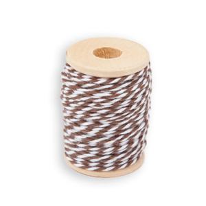 Baumwollkordel Braun-Weiß