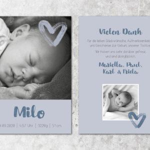 Geburtskarte_Milo