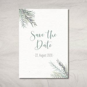 "Save the Date-Karte ""Greenery"""