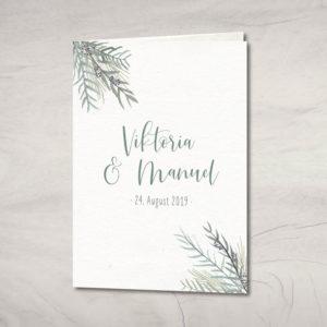 "Hochzeitseinladung ""Greenery"" Wickelfalzkarte"