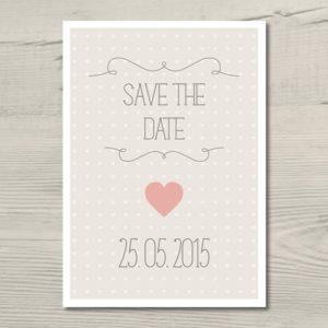 """Save the Date-Karte """"Herzchen"""""""