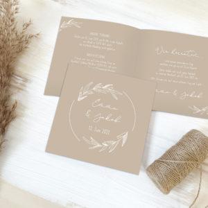 """Hochzeitseinladung """"Natural Love"""""""