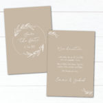 "Save the Date Karte ""Natural Sand"" Hochzeit"