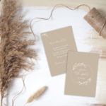 "Save the Date Karte ""Natural Love"" Hochzeit"