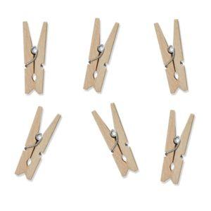 Klammern klein Holz · Natur · 20 Stück