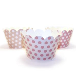 Cupcake ManschettenRosamix · 6 Stück