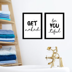 Poster-Set - Get naked - BeYOUtiful