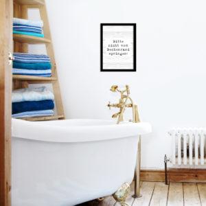Poster - Bitte nicht vom Beckenrand springen