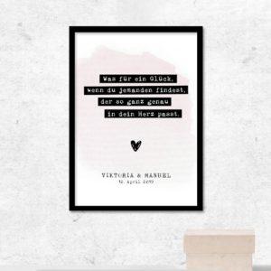 Poster - Was für ein Glück - Rosa