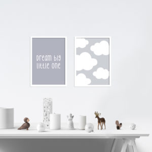 Poster - Dream big little one - 2 Stück