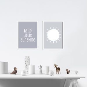 Poster-Set - Hello little Sunshine