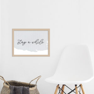 Poster - stay a while