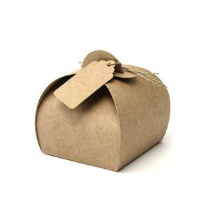 Geschenkboxen rundmit Anhänger & Garn · 10 Stück
