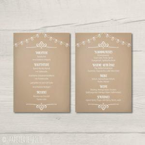 """Menü- und Getränkekarte """"Paperprint"""""""
