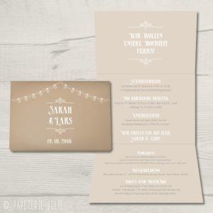 """Hochzeitseinladung """"Paperprint"""" Wickelfalz"""