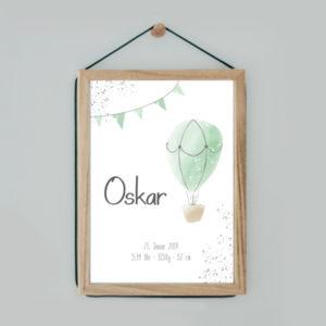 Poster - Ballon - Grün