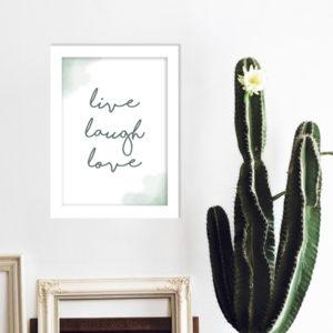 "Poster - ""live, laugh, love"""