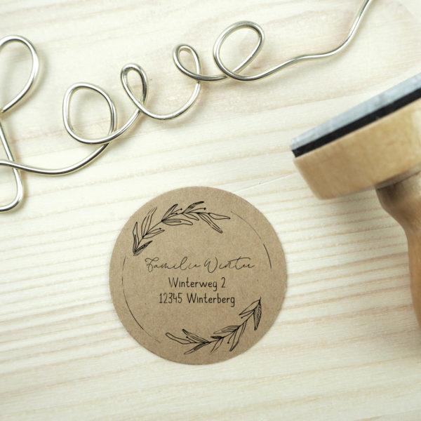 Stempel Adresse - Serie: Natural Love