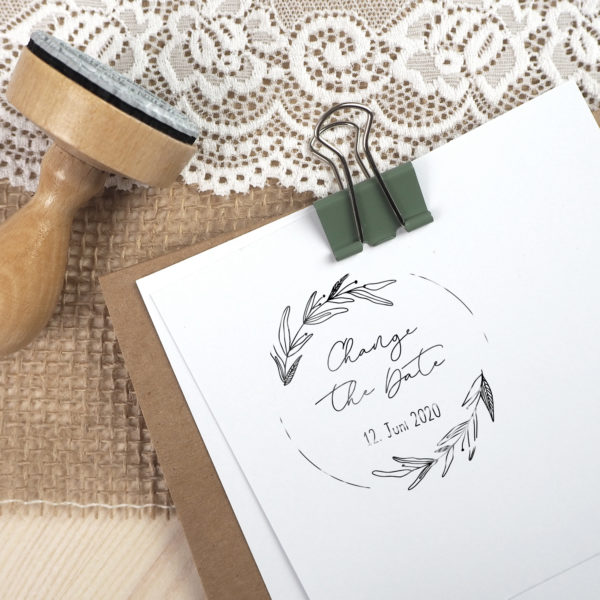 Stempel - Change the Date - Serie: Natural Love