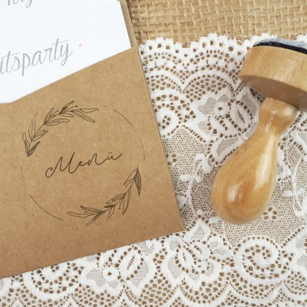 Stempel Hochzeit - Menü - Serie: Natural Love