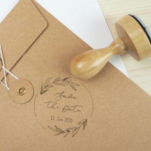 Stempel Hochzeit - Save the Date & Hochzeitsdatum - Serie: Natural Love