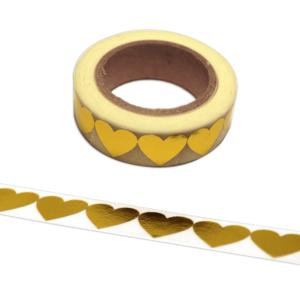 Maskingtape · Washi-Tape Herzchen Goldfolie