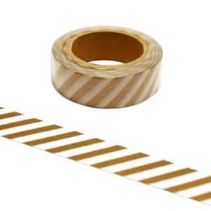 Maskingtape · Washi-Tape Goldene Streifen