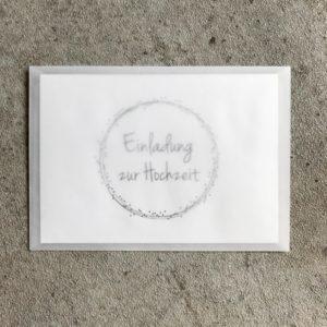 Umschlag C6 - Transparent Weiß