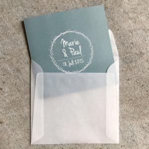 Umschlag quadratisch Transparent Weiß 160x160mm