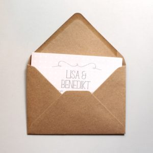 Umschlag C6 - Kraftpapier Naturbraun