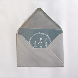 Umschlag C6 - hellgrau