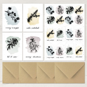 Weihnachtsserie Zweige Postkarten
