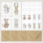 Weihnachtsserie Winterfreunde Postkarten
