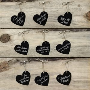 "Hangtag · Anhänger ""Herz"" schwarz · 10 Stück"