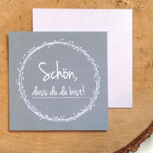 """Gastgeschenke-/ Namenskarte """"Dots"""""""